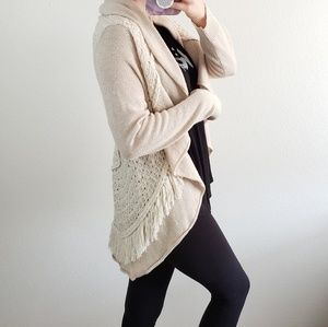 Knitted & Knotted wool blend cardigan